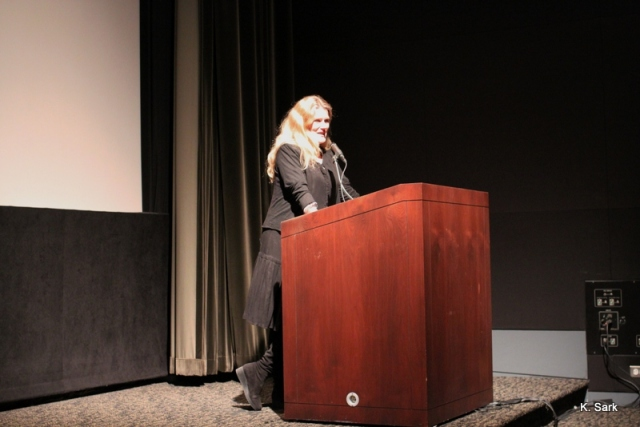Barbara Sukowa at the Gene Siskel Film Center (photo by K.Sark)