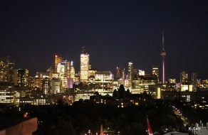 View from the Rooftop Lounge at the Park Hyatt Hotel in Toronto (photo by K.Sark)