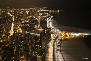 View from the Signature Lounge, Chicago (photo by K.Sark)
