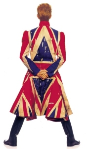 Original photography for the Earthling album cover 1997  Union Jack coat designed by Alexander McQueen in collaboration with David Bowie Photograph by Frank W Ockenfels 3.  © Frank W Ockenfels 3