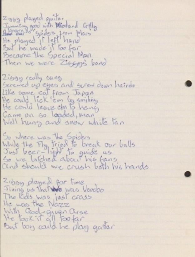 david bowie lyrics: