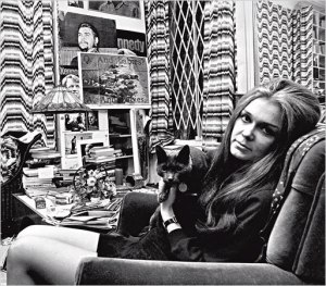 Gloria with cat