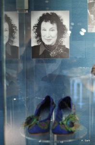 Margaret Atwood's shoes at the Bata Shoe Museum (photo by K.Sark)