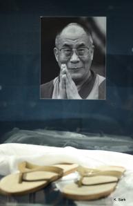 Dalai Lama's shoes at the Bata Shoe Museum (photo by K.Sark)