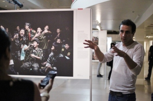 William Daniels at World Press Photo Montreal 2014 (photo by K.Sark)