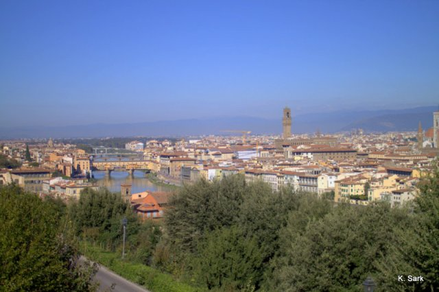 View from Piazza Michelangelo (photo by K.Sark)