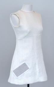 White Touchpad Dress, Barbara Layne Textile Technology