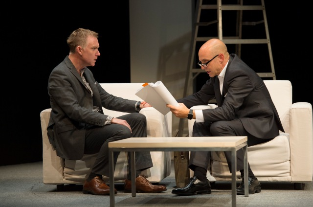 Speed the Plow at Belfry Theatre (photo by David Cooper)
