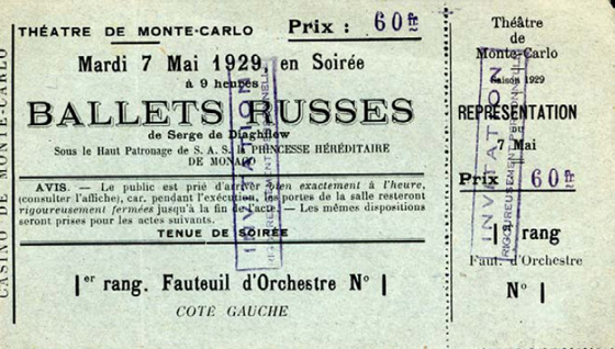 Ballets Russes Ticket