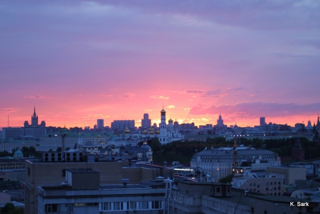Sunset in Moscow - photo by K.Sark