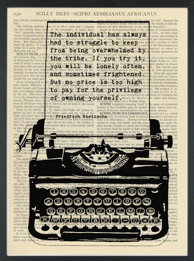 Literary-quote-Nietzsche-The-Individual-Dictionary-Art-Print